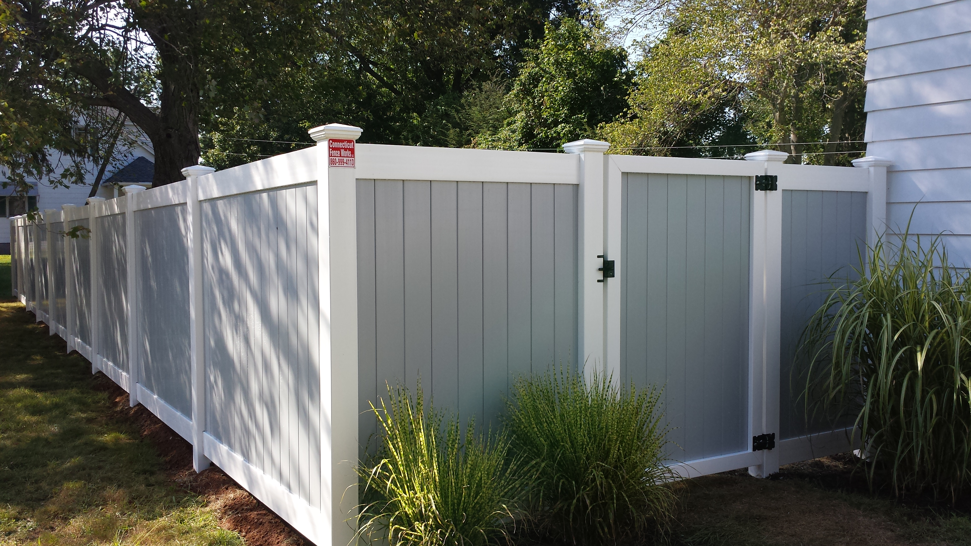 Gray And White Two Tone 6 Connecticut Fence Works